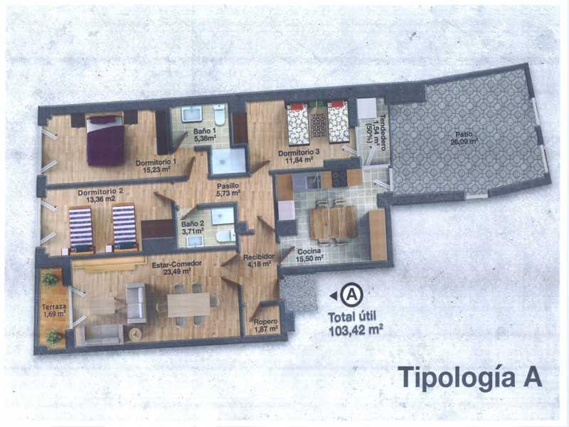flats venta in plasencia centro